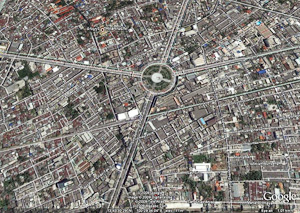King Taksin Statue from Google Earth
