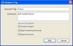 Lightroom Focus Keyword