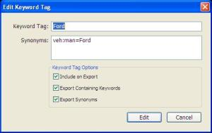 Lightroom Ford Keyword