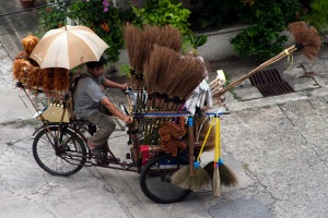 Brush Vendor in Bangkok