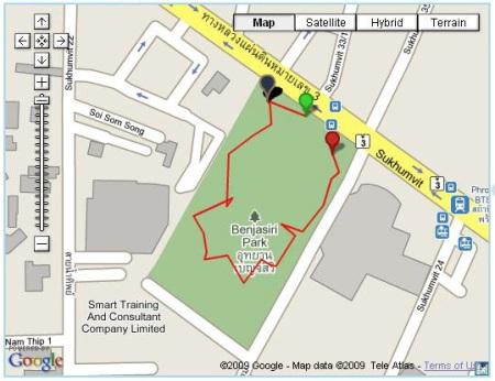 EveryTrail Benchasiri Park Walk
