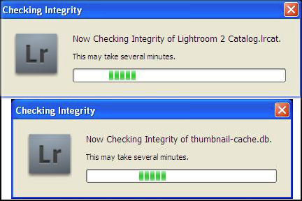 Lightroom - Checking Integrity