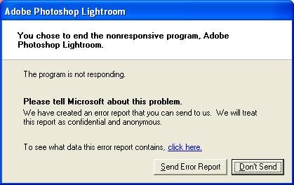 Lightroom Not Responsive