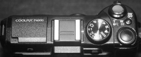 Nikon Coolpix P6000 Top