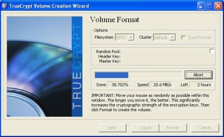 TrueCrypt Volume Creation