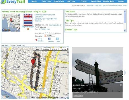 EveryTrail Hua Lamphong Trip 2009-08-31