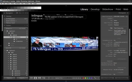 Unsupported or Damaged File in Lightroom