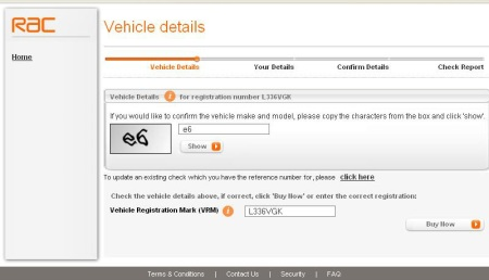 RAC Vehicle Details 2