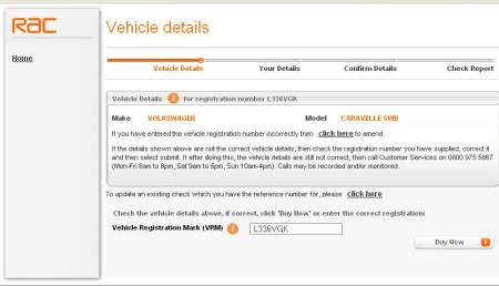 RAC Vehicle Details 3