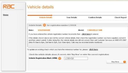 RAC Vehicle Details 3