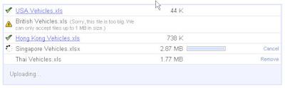 Google Docs Upload Limit