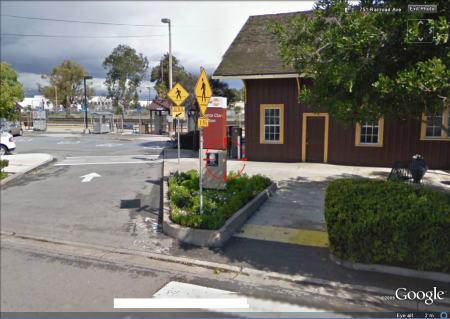 Google Street View Santa Clara Caltrain Station