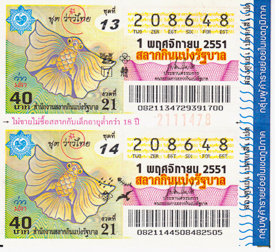 Thai Lottery Tickets