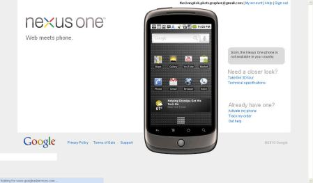Nexus One Not in Thailand