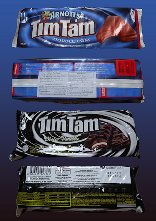 Two types of Tim Tam Biscuits